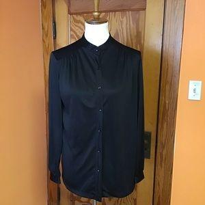 Black gothic dressy oversized sexy blouse